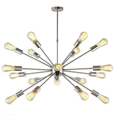 Amazon.com: XHJJDJ Sputnik - Lámpara de techo con 18 luces ...