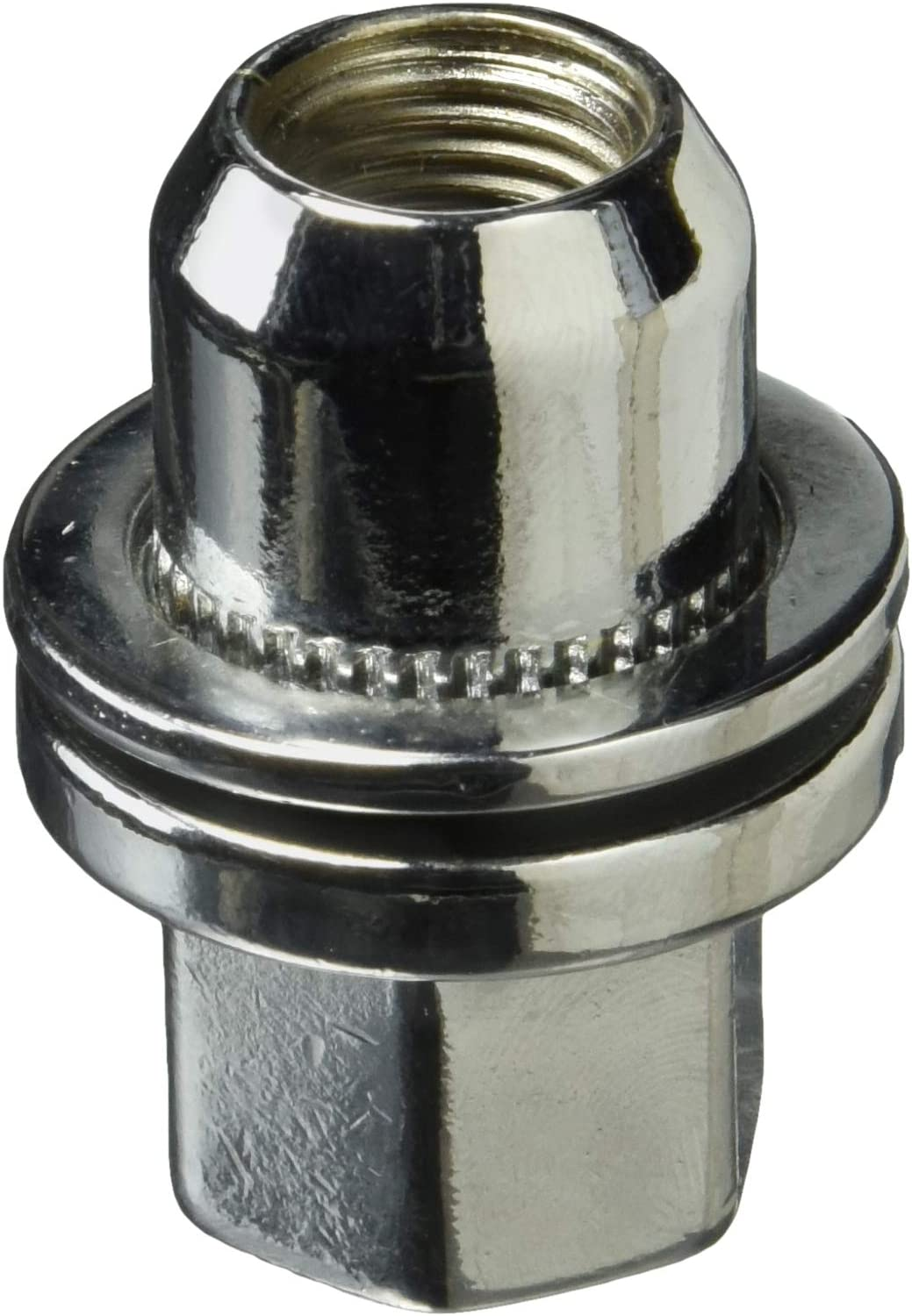 White Knight 5309RR-4 Chrome Lug Nut with Washer for Range Rover - 4 Piece