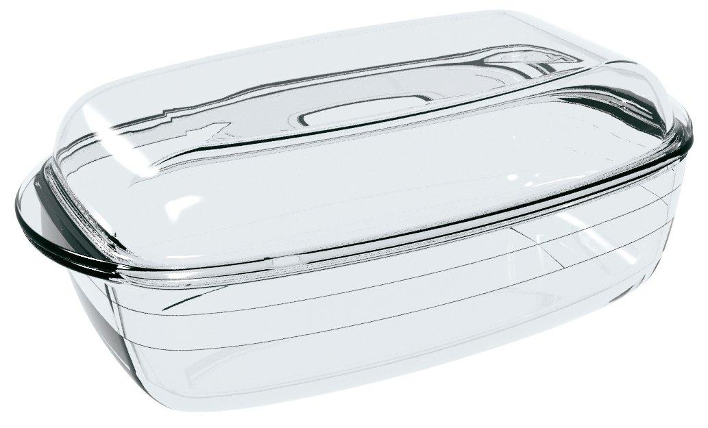 Ôcuisine 4937388 - Cacerola rectangular 3 l, 33 x 10 x 20 cm, color transparente: Amazon.es: Hogar