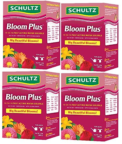 Schultz Bloom Plus Water Soluble Plant Food 10-54-10, 1.5-Pound (4)
