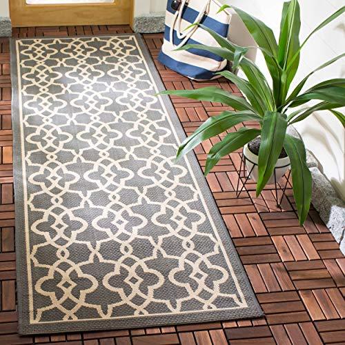 Safavieh Courtyard Collection CY6071-246 Grey and Beige Indoor/ Outdoor Runner (2'7