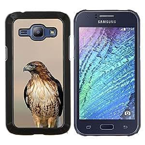 YiPhone /// Prima de resorte delgada de la cubierta del caso de Shell Armor - halcón borrosa atardecer aves naturaleza del verano - Samsung Galaxy J1 J100