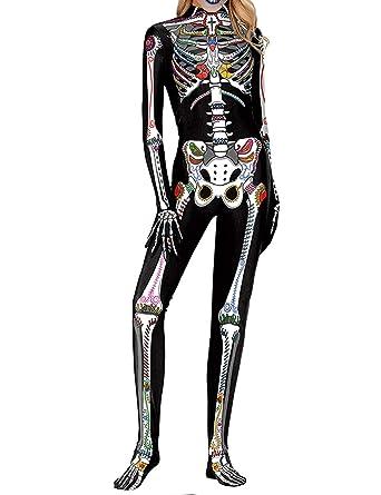 Disfraz de Esqueleto Mujer, Traje de Esqueleto Mujer de ...
