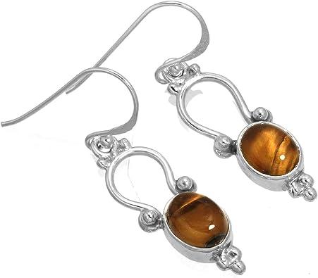 Tiger Eye Stone Earrings
