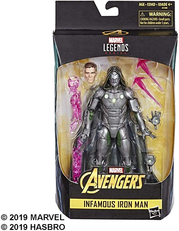 "IN HAND HASBRO MARVEL LEGENDS 6/""Avengers INFAMOUS IRON MAN Dr Doom action figure"
