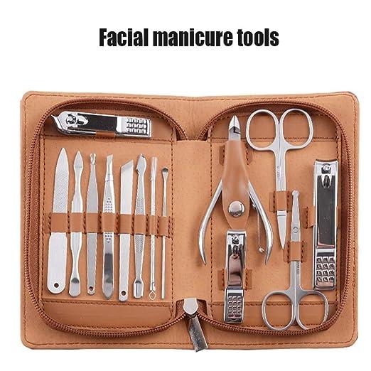 Cyyk Set De Manicura Pedicura 14 Piezas Acero Inoxidable Kit ...