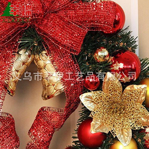 Christmas Garland for Stairs fireplaces Christmas Garland Decoration Xmas Festive Wreath Garland with Christmas wreath rattan wreath Christmas wreath rattan circle Christmas,60cm