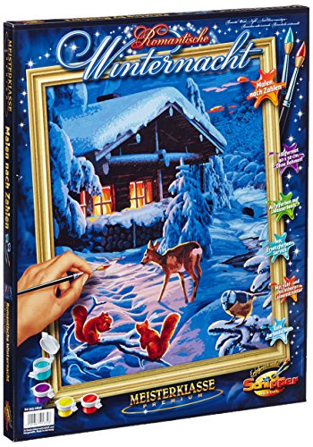 Schipper Romantic Winter Night Paint by Number