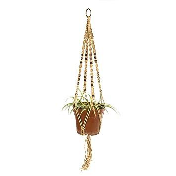 newcomdigi cuerda de camo para maceta colgante de plantas percha de suspensin de macrame de plantas