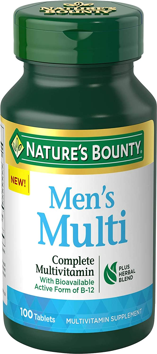Nature's Bounty Complete Men's Multivitamin, 100 Tablets