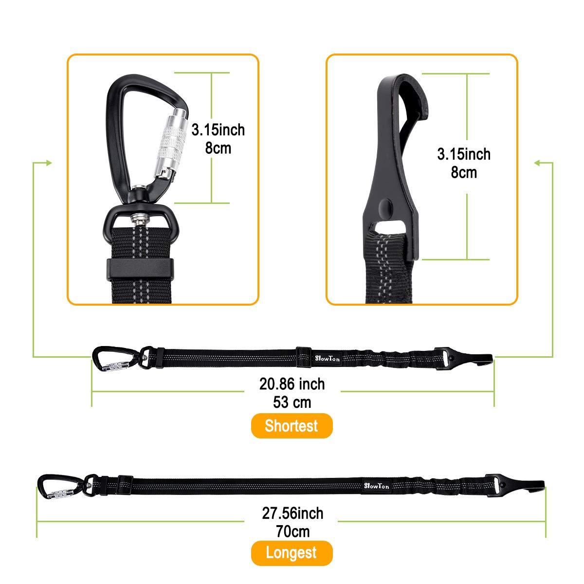 Mascotas Cintur/ón de Seguridad para Perro SlowTon Cintur/ón Perro Coche Ajustable,Hebilla Universal de Nylon para Mascotas de Viajes
