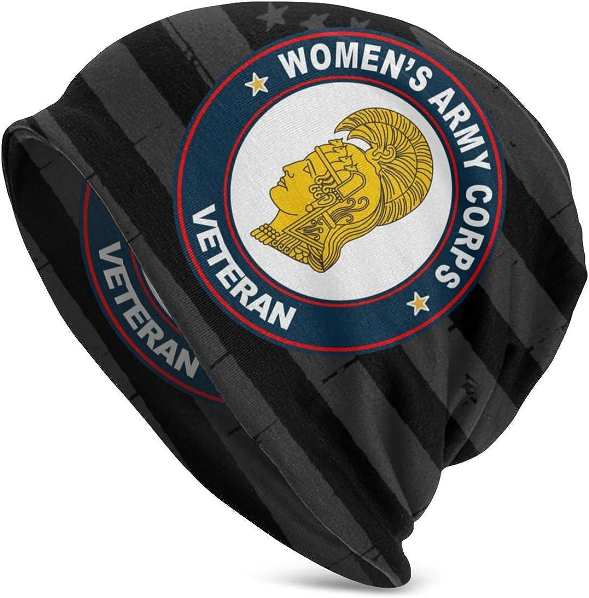 JINGUImao Womens Army Corps Veteran WAC Unisex Warm Hat Knit Hat Skull Cap Beanies Cap