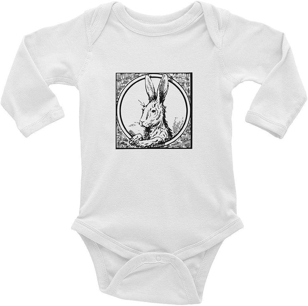 Cute Baby Novelty White Infant Bodysuit Vintage Graphic Unisex Long Sleeve