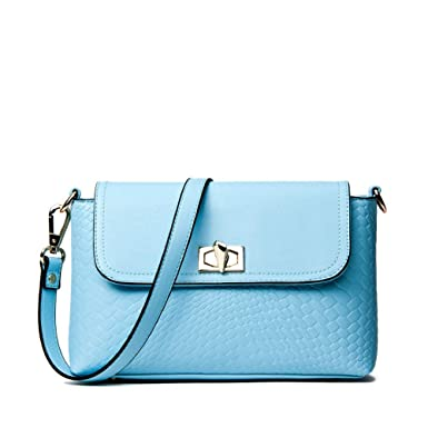 f7d2497d829 DHFUD Spring Shoulder Messenger Bag Female Small Bag European And American  Fashion Handbags,Blue-OneSize: Amazon.co.uk: Clothing