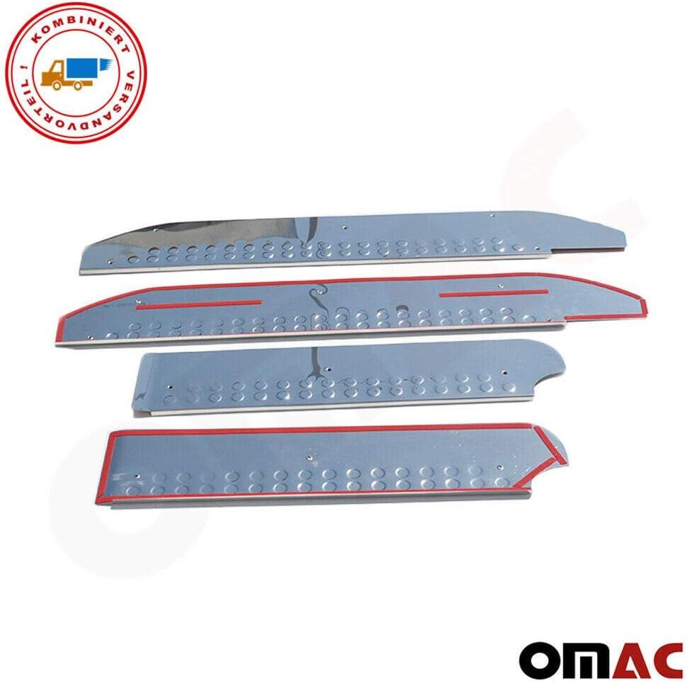 Vito Viano W639 2003-2012 Set di 4 battitacco in acciaio INOX cromato protezione paraurti per Vito Viano