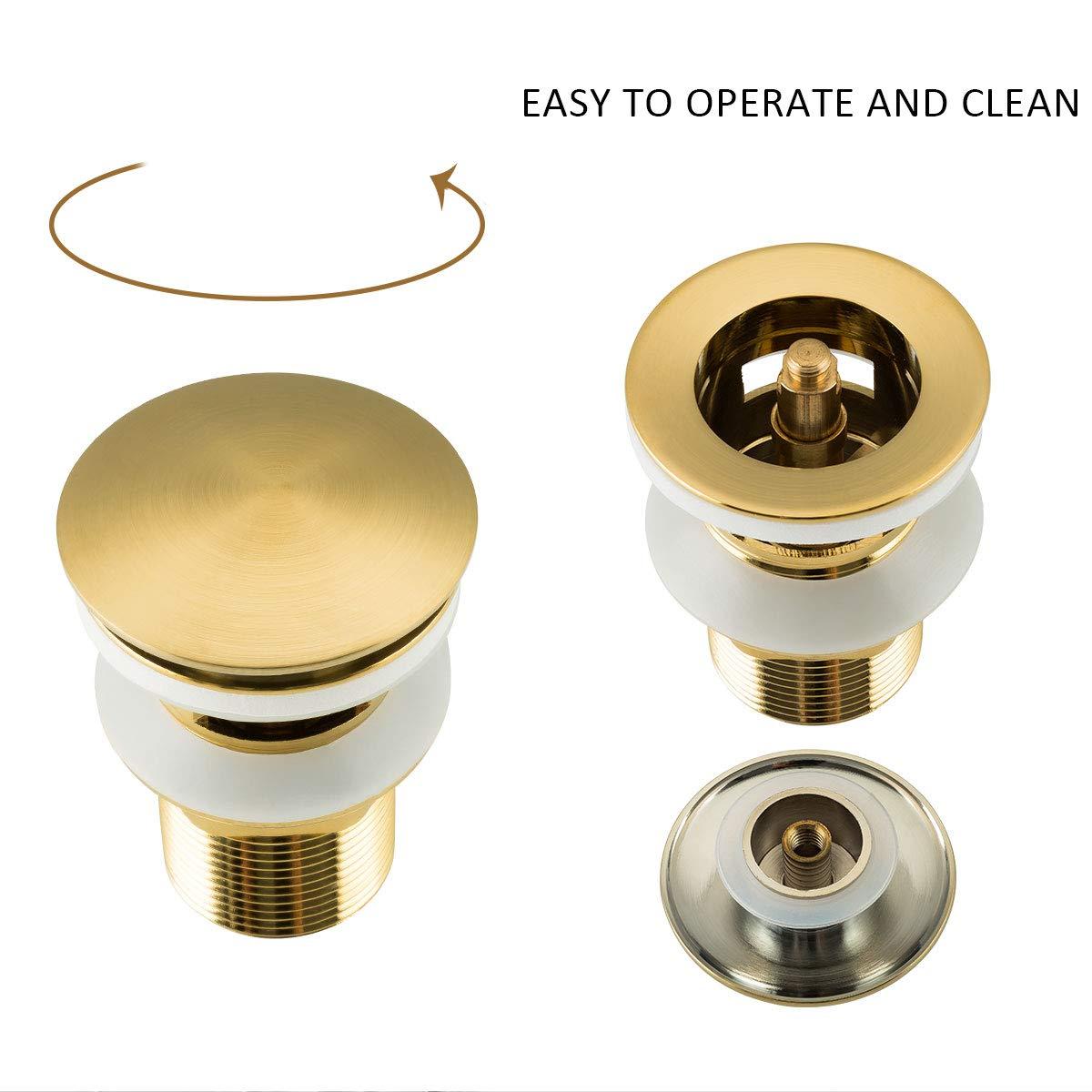 or Bonde de lavabo avec trop-plein /à fente pour lavabo de salle de bain