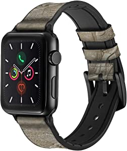 CA0587 Babylonian Mesopotamian Art Leather & Silicone Smart Watch Band Strap for Apple Watch iWatch Size 42mm/44mm