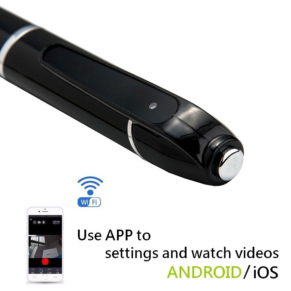 INJATek 32GB Spy Camera Pen WiFi HD 1080P Mini DVR P7 with Real Time Video Recording Function and 5 Ink Refills 861736