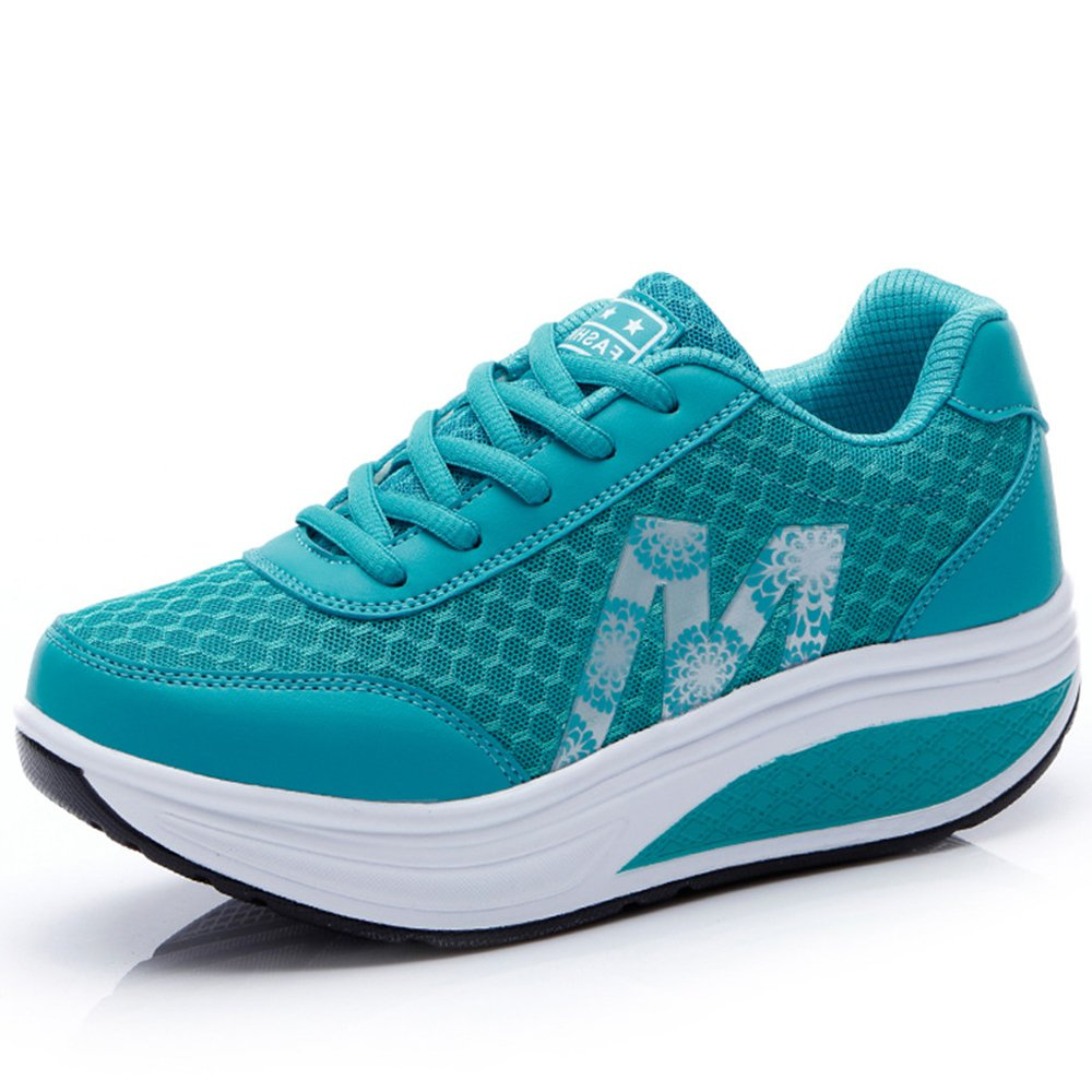 CN-Porter Women's Platform Wedges Tennis Walking Sneakers Comfortable Lightweight Fitness Shoes by CN-Porter (Image #1)