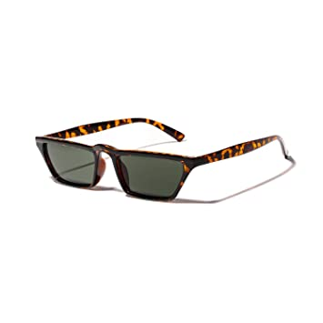 Eqerlian Gafas de Sol, Marco de Gafas cuadradas pequeñas de ...