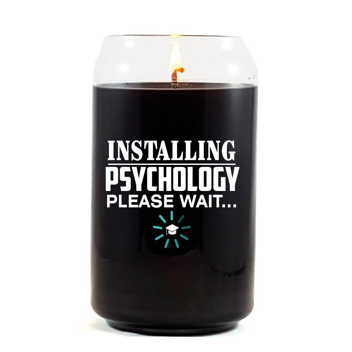 Installing PSYCHOLOGY Please Wait College Degree - Scented Candle