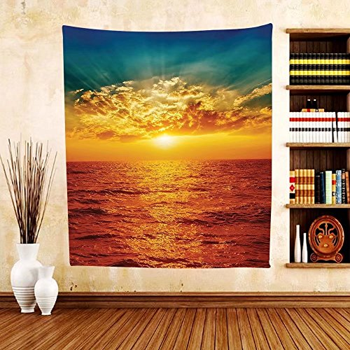 Gzhihine Custom tapestry Ocean Decor Tapestry Twilight Seascape at Karon Beach Thailand Exotic Vacation Getaway Destination Picture Bedroom Living Room Dorm Decor Red - Outlets Vero The Beach At