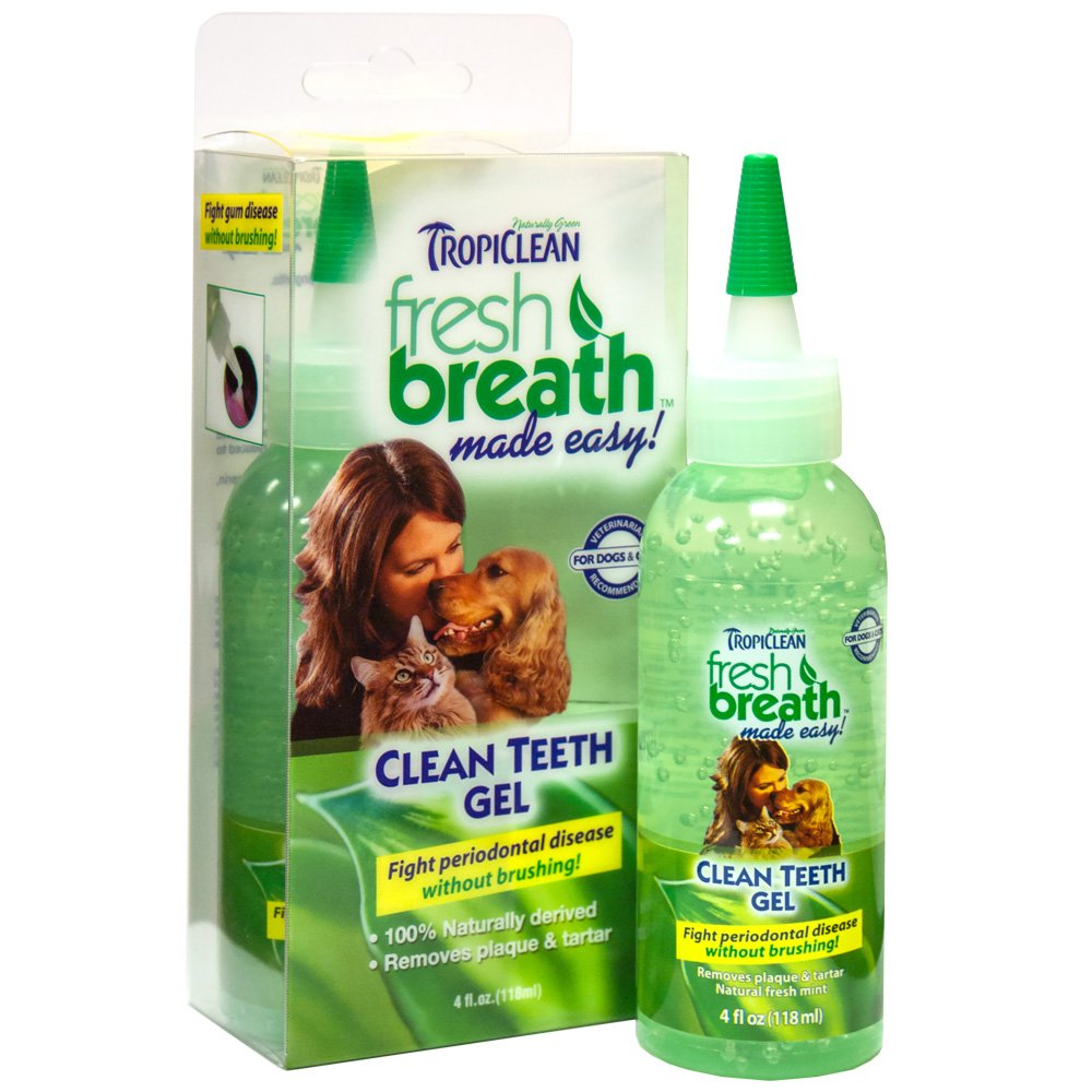 TropiClean Fresh Breath Clean Teeth Gel for Dogs -4 FZ