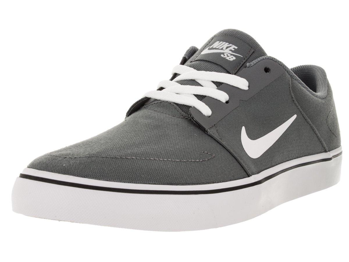 Nike Herren SB Portmore CNVS Skaterschuhe  45.5 EU|Gris (Cool Grey / White-black)