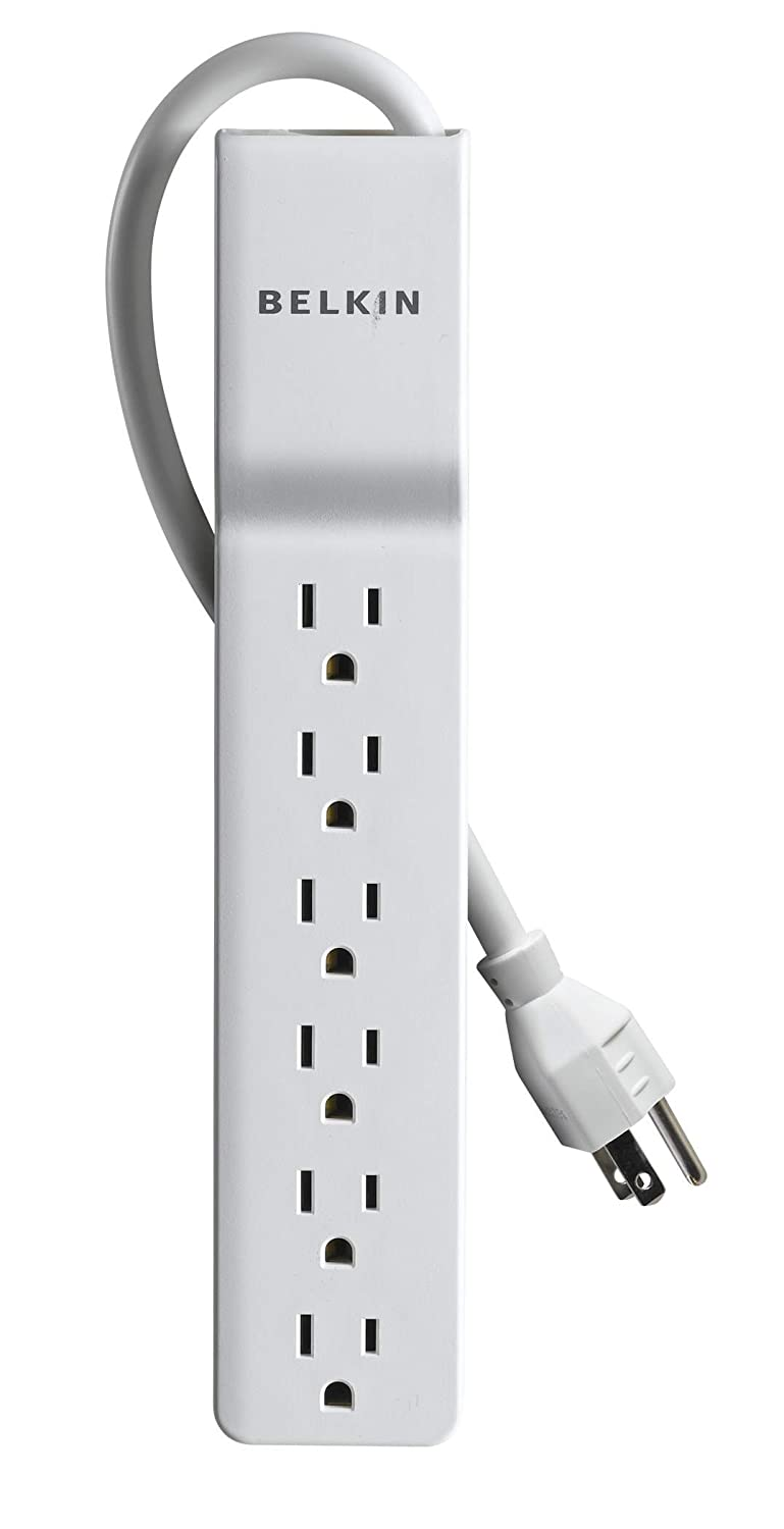 amazoncom belkin 6 outlet homeoffice surge protector 4 feet4 feet home audio theater belkin office