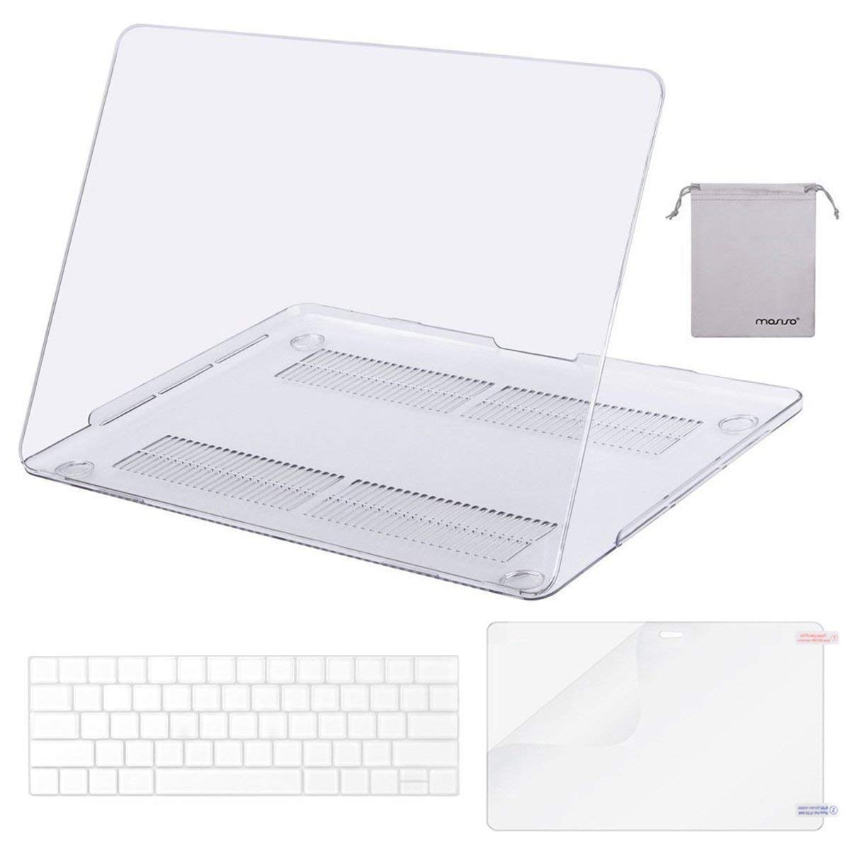 MOSISO MacBook Pro 15 Case 2018 2017 2016 Release A1990/A1707 Touch Bar Models, Plastic Hard Shell & Keyboard Cover & Screen Protector & Storage Bag Compatible Newest Mac Pro 15 Inch, Crystal Clear by MOSISO (Image #1)