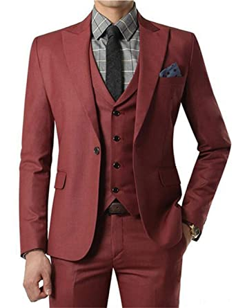 Amazon.com: Fitty Lell - Traje de boda para hombre, diseño ...