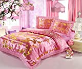 Best Jacquard Chinese Wedding Bed Set Dragon Phoenix Double Blessing Embroidery Lace Silk Quilted Duvet Cover Sets 4pcs Queen Pink