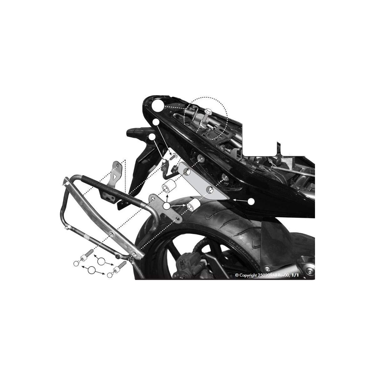 GIVI Side Case Mount Brackets for 09-11 Kawasaki EX650