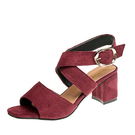 478dbffc40b1 Clearance Hot Sale! ❤ Summer Ankle Buckle Strap Womens Wedge Sandals Cross  Flat Fish