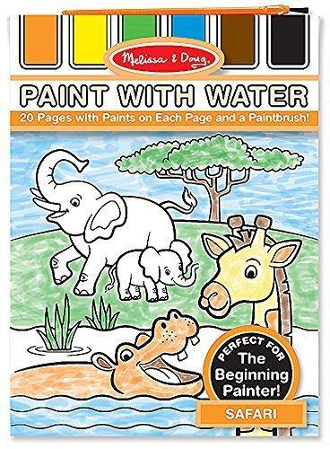 Melissa & Doug Safari: Color with Water Only Art Activity Pad + FREE Scratch Art Mini-Pad Bundle [31752]
