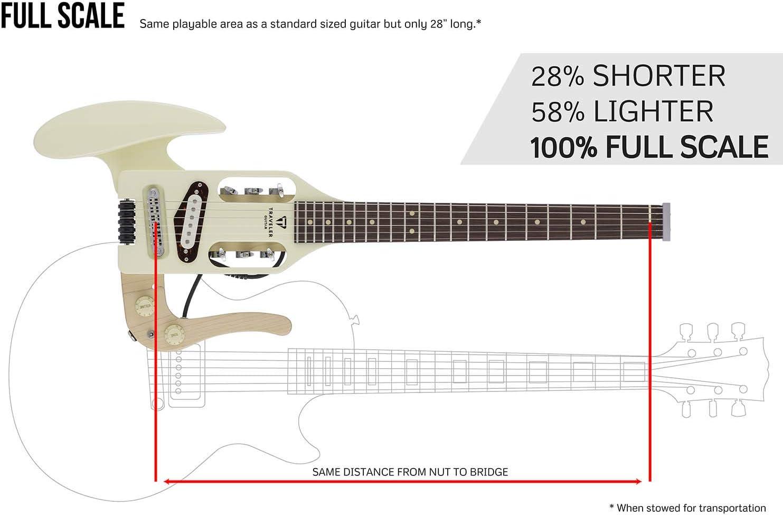 Right PSM VWTGPF Vintage White Traveler Guitar 6 String Solid-Body Electric Guitar