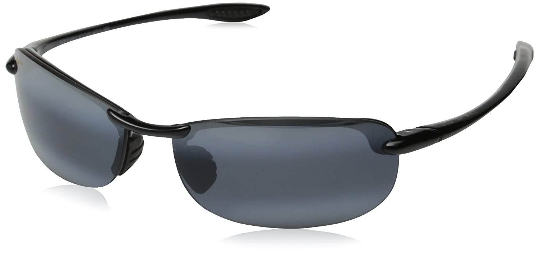 2f7432d26495 Maui Jim Men's Makaha 405-02 Black Semi-Rimless Sunglasses: Maui Jim:  Amazon.co.uk: Clothing