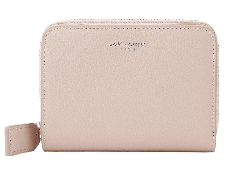 (サンローラン) SAINT LAURENT 財布 二つ折り ラウンドファスナー レザー 414661 [並行輸入品] B07B9SQS7VMARBLE PINK