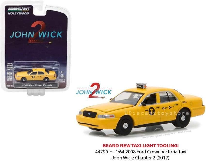 Greenlight de John mecha 2008 Ford Crown Victoria taxi neumáticos de goma