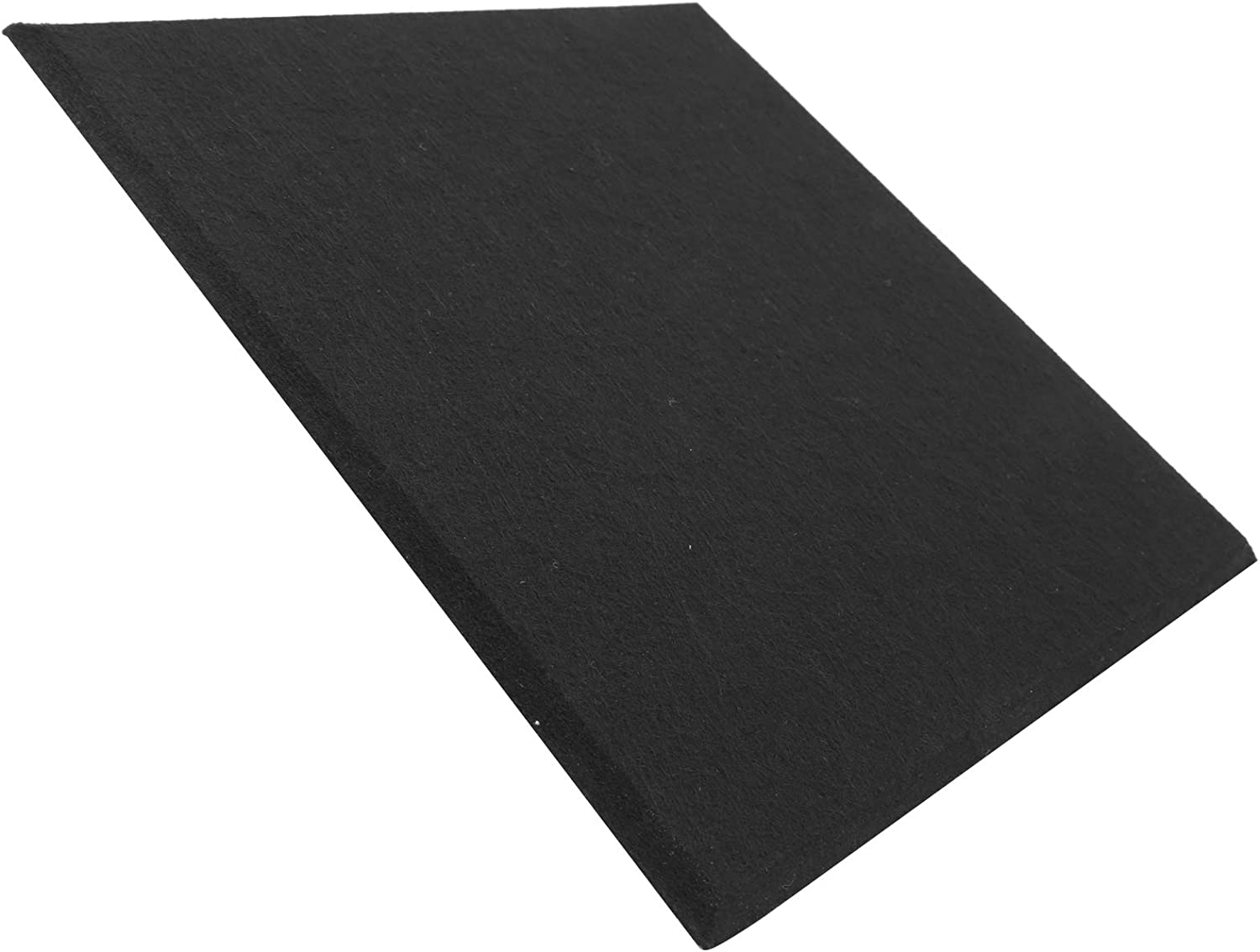 6Pcs Sound‑Absorbing Board, Acoustic Polyester Fiber Soundproofing Fireproof Silencer Panels for Recording Studio, Home Theater(black)