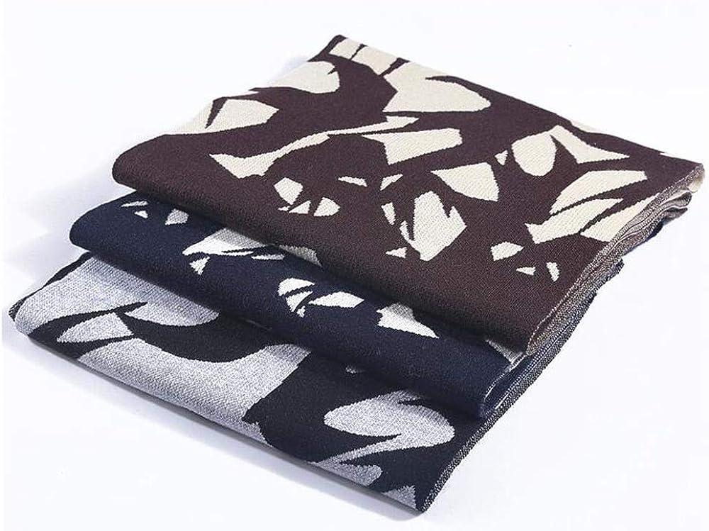 Mens high-grade winter scarf warm thick scarf fashion casual scarf outdoor warm scarf JUROUXIYUJINn