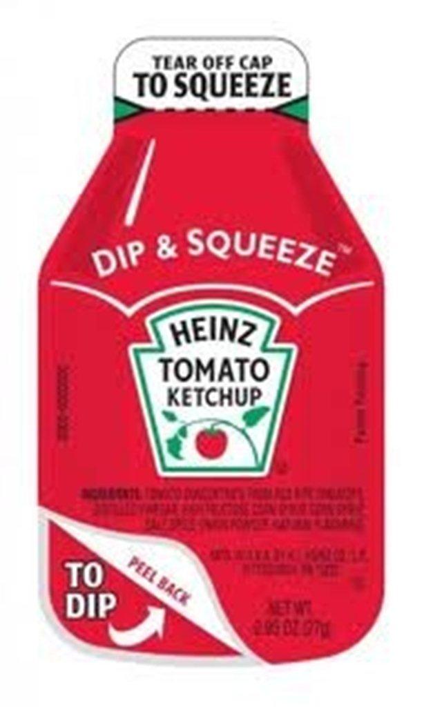 Heinz Ketchup, 27 g. Dip-N-Squeeze, Pack of 500 by Heinz