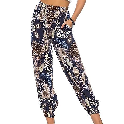 Amazon.com: Adeliber Womens Smocked Waist Harem Hippie Boho ...