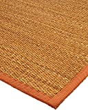 Cheap NaturalAreaRugs Sedona Collection Mt. Grass Fiber Area Rug, Handmade in USA by Artisans, Mountain Grass, Non-Slip Latex Backing, Durable, Stain Resistant, Eco-Friendly, (2 Feet 6 Inches x 8 Feet) Sienna Border