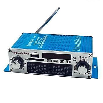 Mengonee HY-602 Mini Altavoz de Alta fidelidad estéreo Amplificador Digital de Potencia con FM