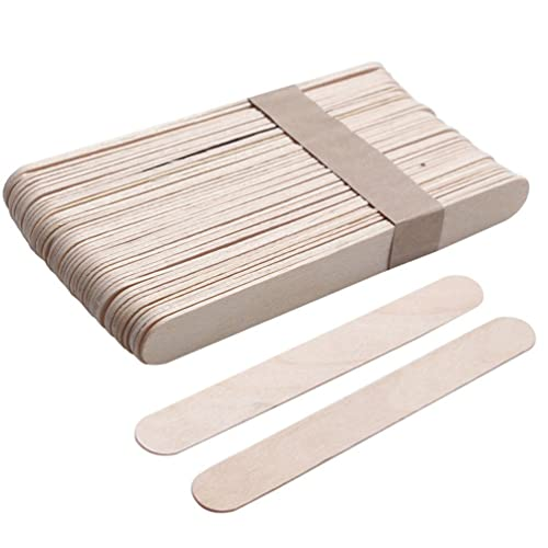 Nighteyes66 50Pcs Disposable Wax Waxing Spatula Body Hair Removal Wooden Sticks