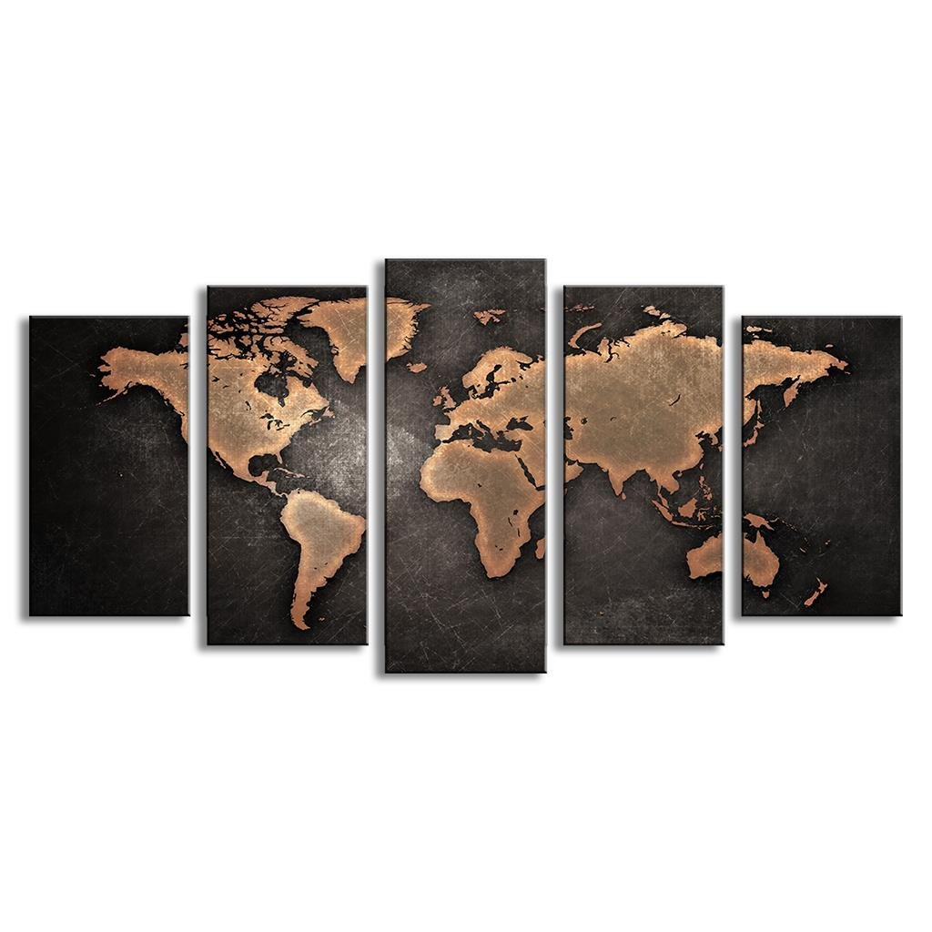 Amazon mivyy frameless huge modern abstract world map wall art amazon mivyy frameless huge modern abstract world map wall art canvas painting for living room home decor pictures paintings gumiabroncs Image collections