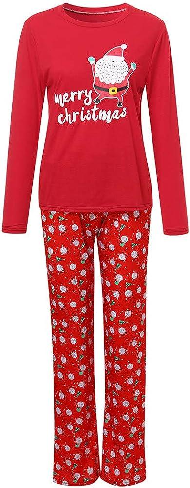 Family Christmas Pajamas Set Mumustar 2PC Red Plaid Spleepwear Winter Nightwear Sweatshrit Lounge Pants Xmas Party Family Matching Pjs Sets
