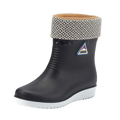 333c97dc4604 Frestepvie Women Mid Calf Wellies Rain Boots Warm Fleece-Lined Wellington  Boots Winter Snow Cold
