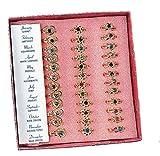 36 Metal Adjustable Heart and Flower Birthstone Rings Jewelry